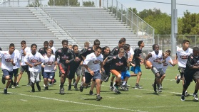 Rancho NFL Camp Players on the Run