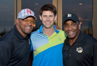 Nebraska Heisman Trio ; Mike Rozier, Eric Crouch and Johnny Rodgers.